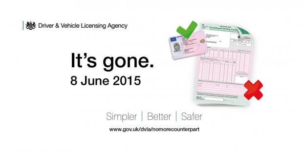 Driving Licence counterpart no longer issued from today ...