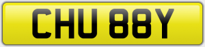 CHU 88Y NUMBER PLATE