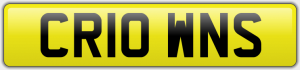 CR10 WNS NUMBER PLATE