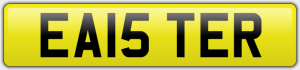 EA15 TER NUMBER PLATE