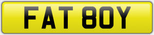 FAT 80Y NUMBER PLATE