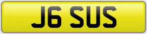 J6 SUS NUMBER PLATE
