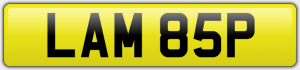LAM 85P NUMBER PLATE