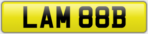 LAM 88B PRIVATE NUMBER PLATE