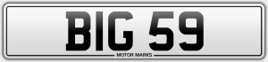 BIG 59 number plate