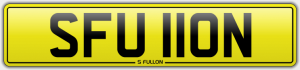 s fullon cherished number plate