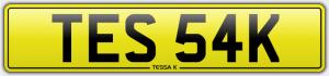 tessa k cherished number plate