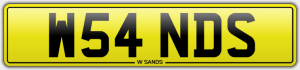 w sands cherished number plates