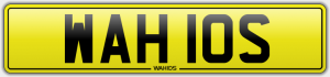 wahids cherished number plates