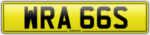 wraggs cherished number plate