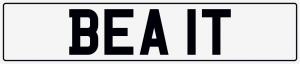 Beat cherished number plate BEA 1T
