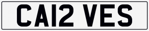 Carves cherished number plate CA12 VES
