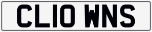 Clowns cherished number plate CL10 WNS