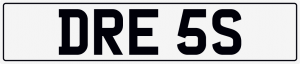 Dress cherished number plate DRE 5S