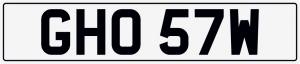 Ghost cherished number plate GHO57W