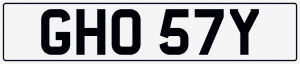 Ghost cherished number plate GHO 57Y