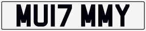 Mummy cherished number plate MU17 MMY