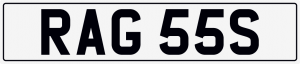 Rags / bandages cherished number plate RAG 55S