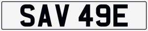 Savage cherished number plate SAV 49E