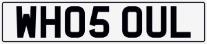 Who soul cherished number plate WH05 OUL