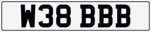 Web cherished number plate W38 BBB