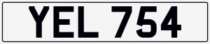 Yell / scream chersihed number plate YEL 754