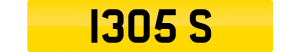 boss number plate 1305 S