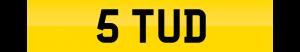 stud number plate 5 TUD