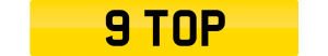 top number plate 9 TOP