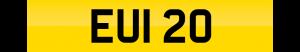euro number plate EUI 20