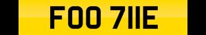 footy number plate FOO 711E