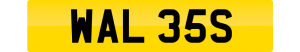 wales number plate WAL 35S